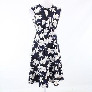 Ann Taylor blue sleeveless A-line dress 0P